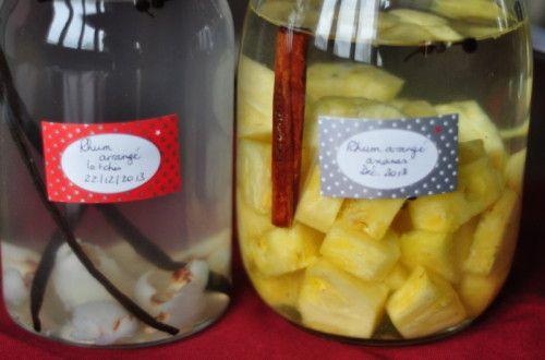 C'est le moment de les mettre en oeuvre: rhum arrangé letchis et rhum arrangé ananas - Les idées vagues de Snapulk...