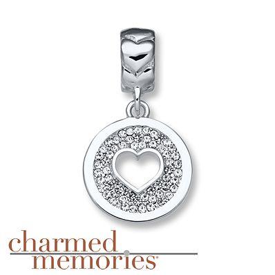 Kay Jewelers Charmed Memories Heart Locket W Pink Swarovski