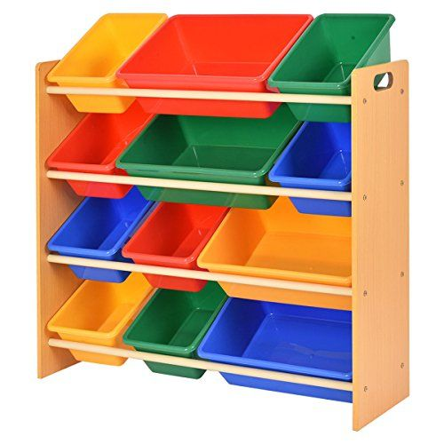 Giantex Toy Bin Organizer Kids Childrens Storage Box Playroom