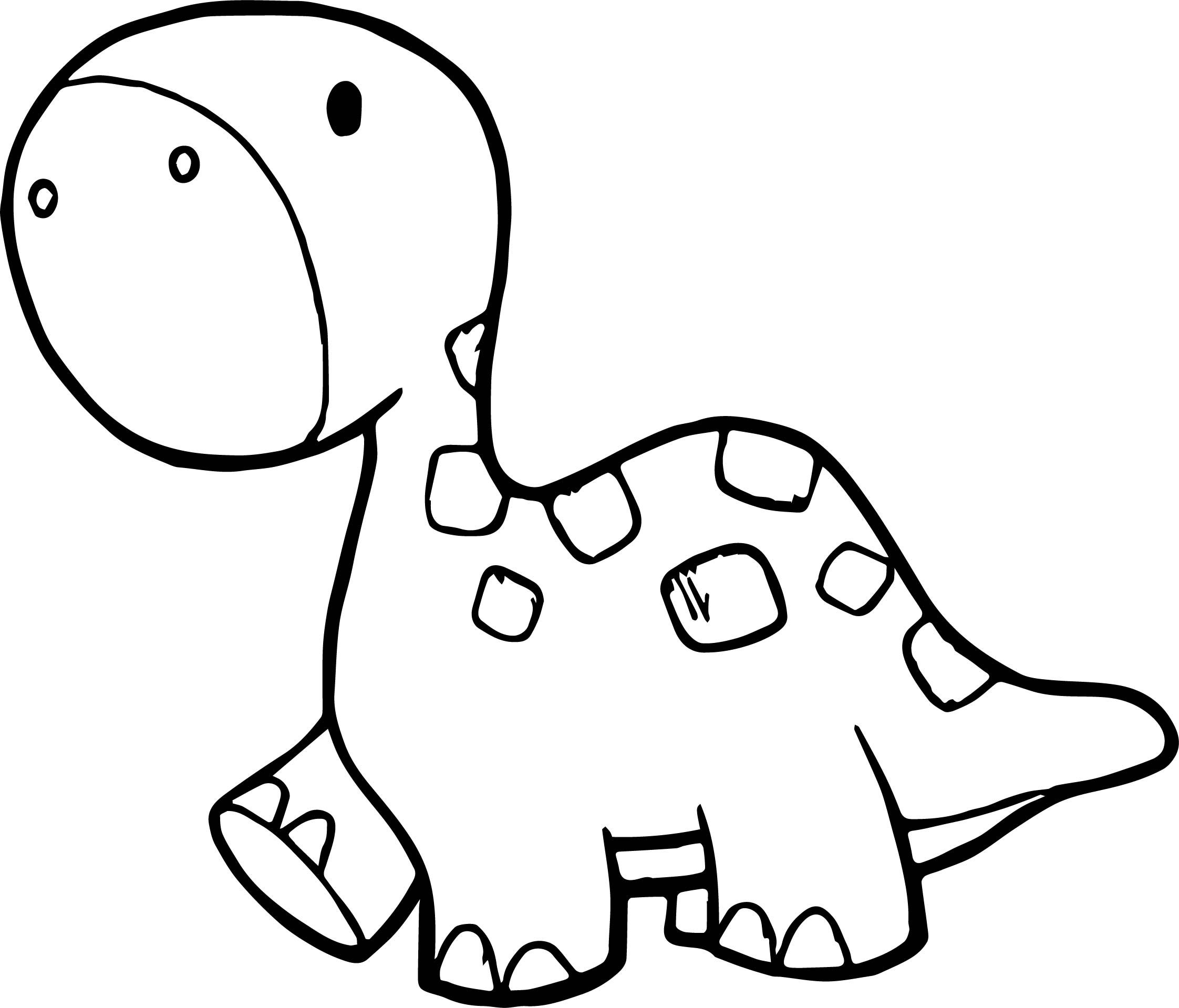 Awesome Walking Smaller Dinosaur Coloring Page