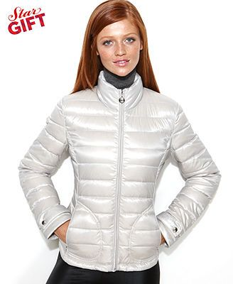 Calvin Klein Coat Quilted Packable Puffer Medium In