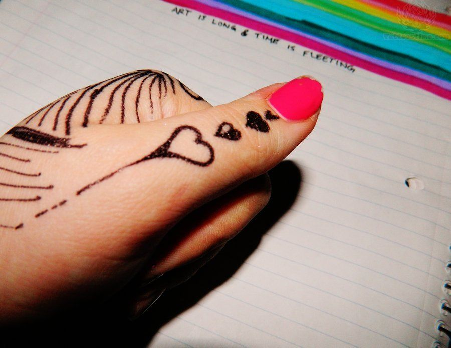 Mehndi Heart Tattoo Design : Love tattoos designs and ideas page