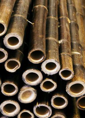 rouleau de bambou epais noir pour