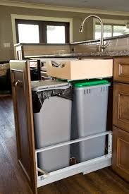 kitchen trash can pull out remodel home depot under sink cabinet double bin tilt stainless steel