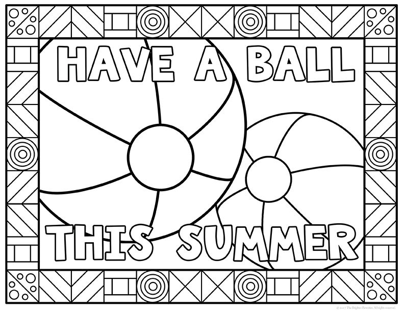 coloring pages for elementary school | Summer Coloring Pages | End of School Year Activities ...