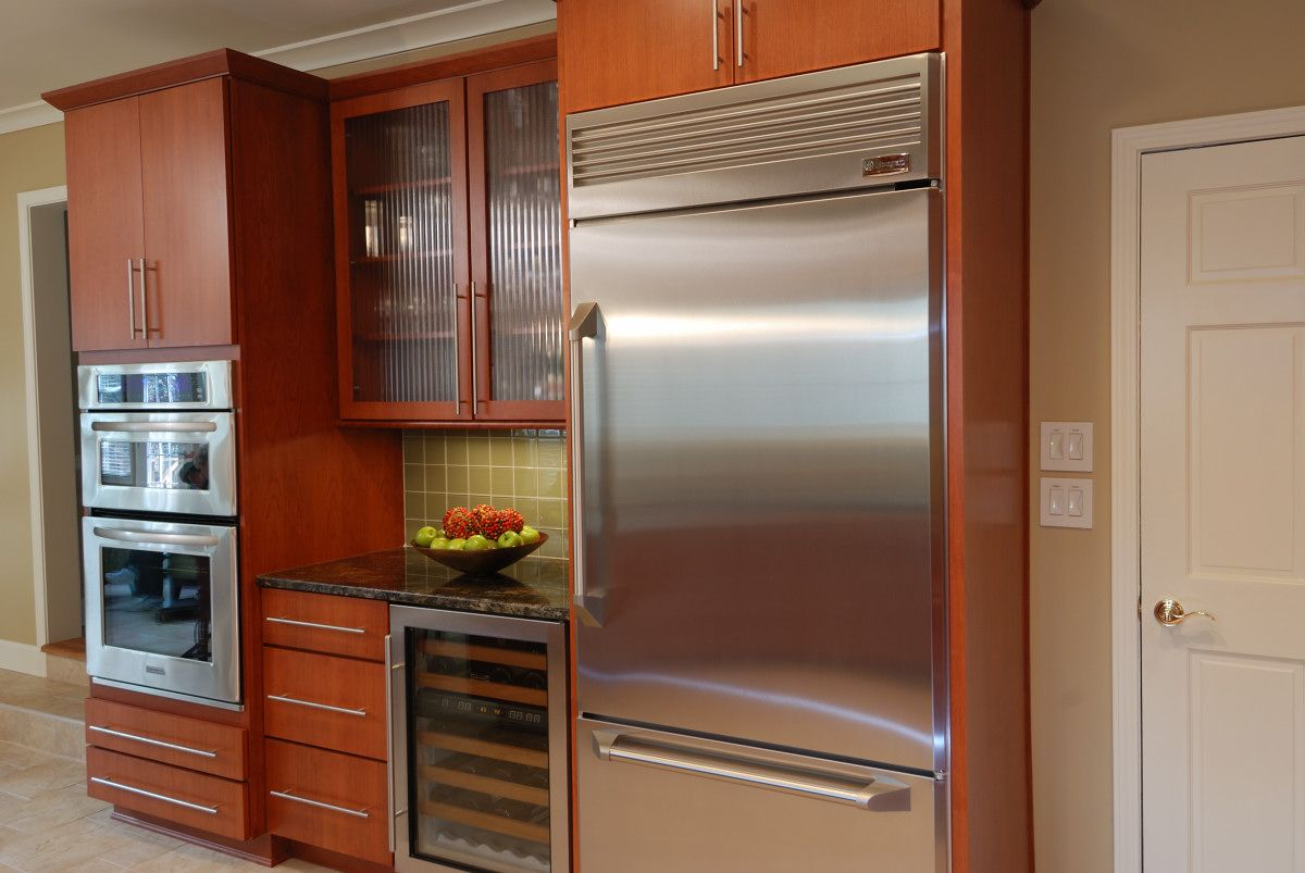Built in refrigerator cabinet - Momentum Construction Refrigerator Basic Options Refrigerator Panel On Both Sides To Be 2 5 Beyond Back Door Upper Cabinet Can Still Be 24 As Opposed