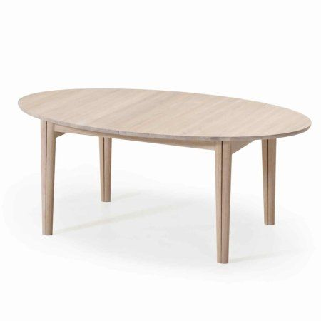 Oval Dining Table Extendable White Oiled Oak Or Other Finishes Skovby Sm78 Extending
