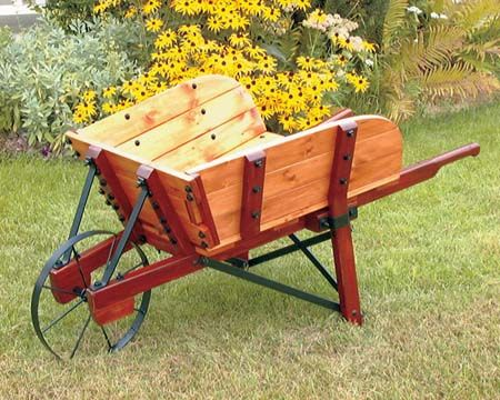 make your own vintage wheelbarrow with this plan at