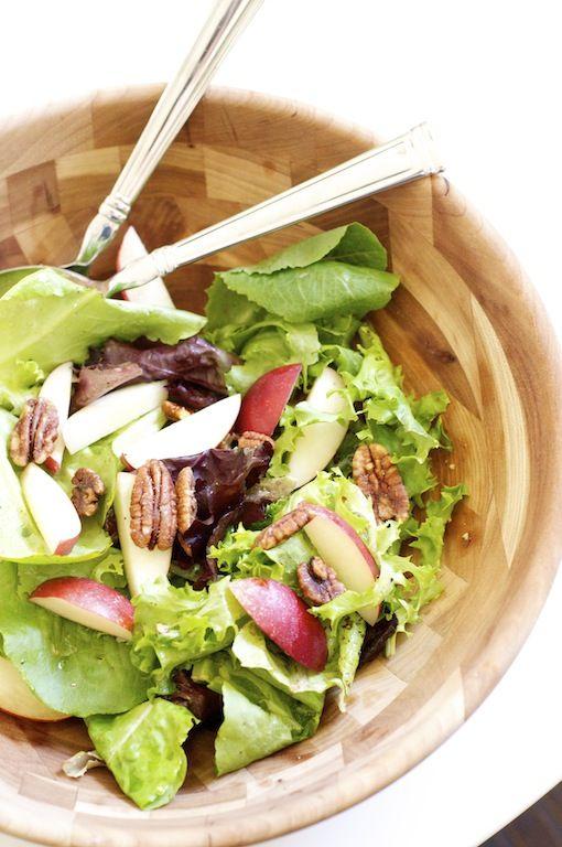 on the menu: white nectarine salad