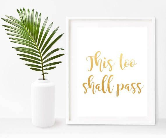 This Too Shall Pass, Christian Wall Art, Sympathy Gift, Digital ...