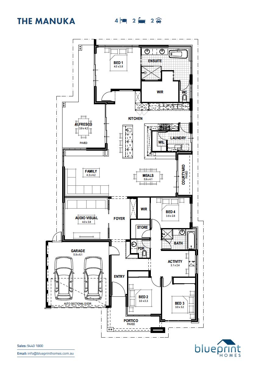 Baldivis Display Home Perth The Manuka Blueprint Homes Unique House Plans House Layout Plans Blueprints