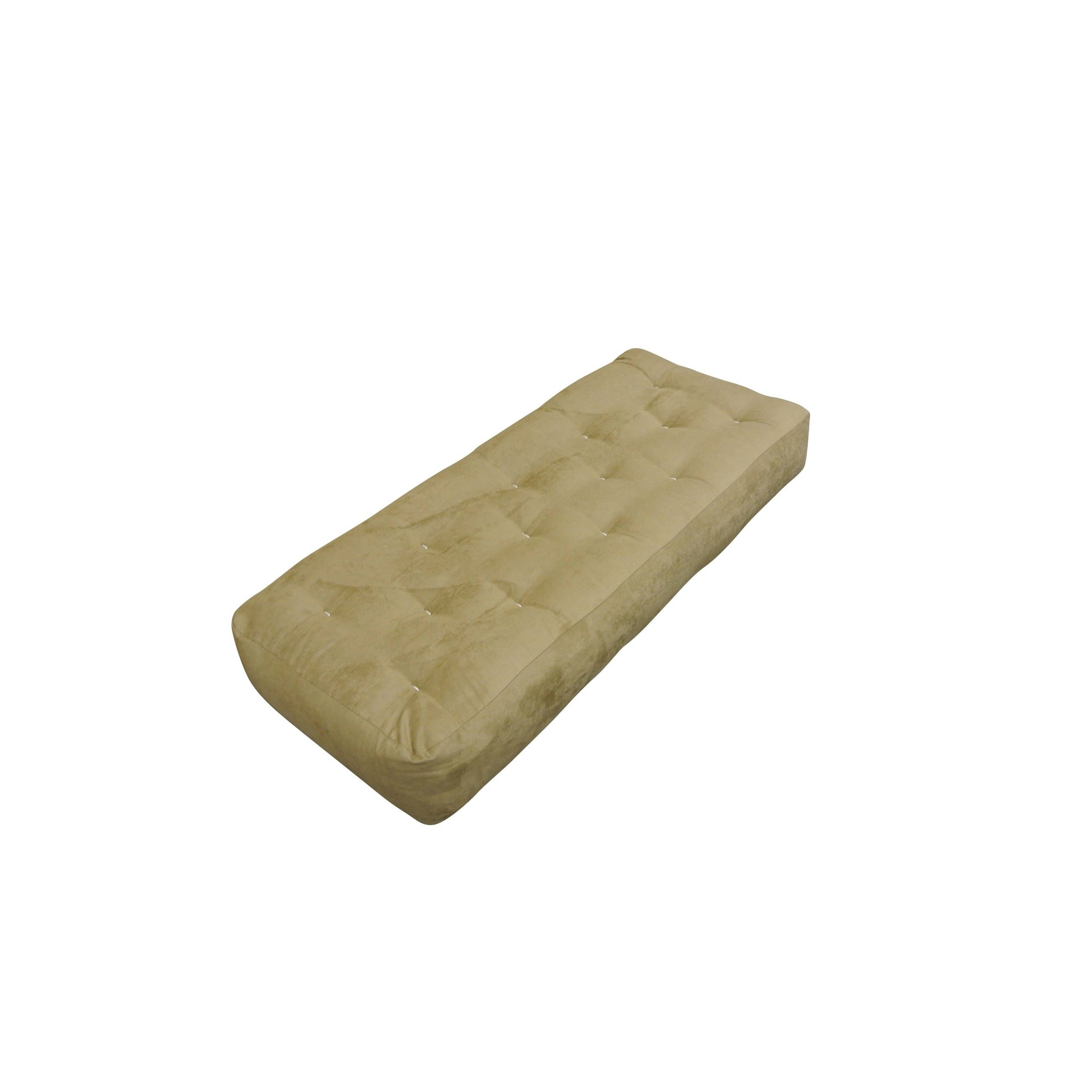 4 all cotton 21x54 loveseat ottoman chocolate microfiber futon mattress  brown   polyester cotton 4 all cotton 21x54 loveseat ottoman chocolate microfiber futon      rh   pinterest