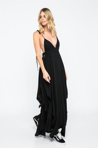 1d54576138 BLACK JAZMIN OPEN BACK MAXI DRESS