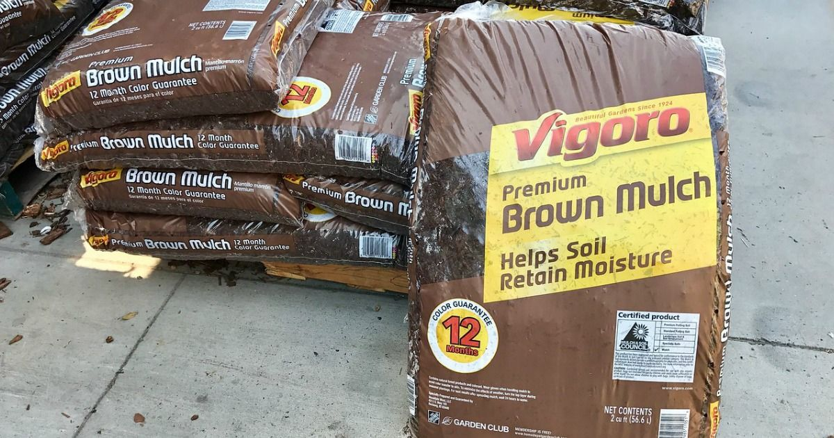 BIG Mulch Bags Only 2 at Home Depot or Lowe Mulch, Wood