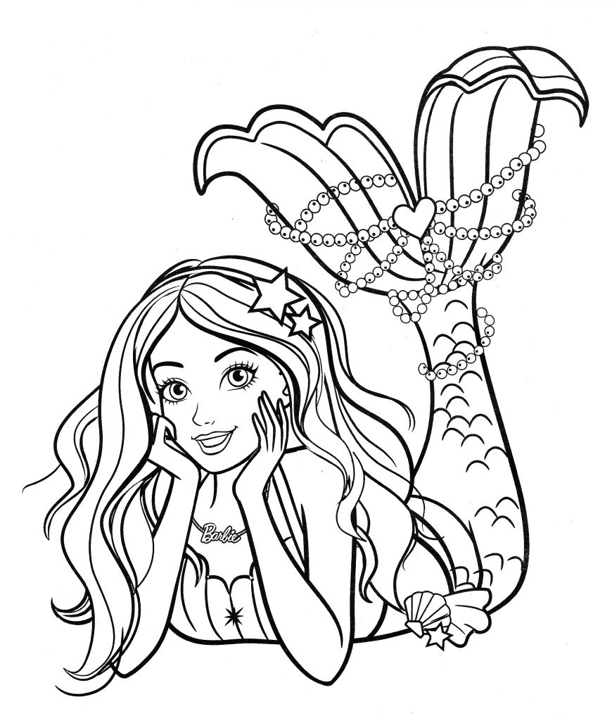 Barbie Mermaid Coloring Page In 2020 Barbie Coloring Pages Barbie Coloring Mermaid Coloring