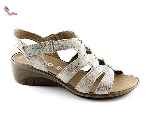 Peau Sandales En Femme Igiamp; 78176 Taupe Co Daim Chaussures 4qRj35LA