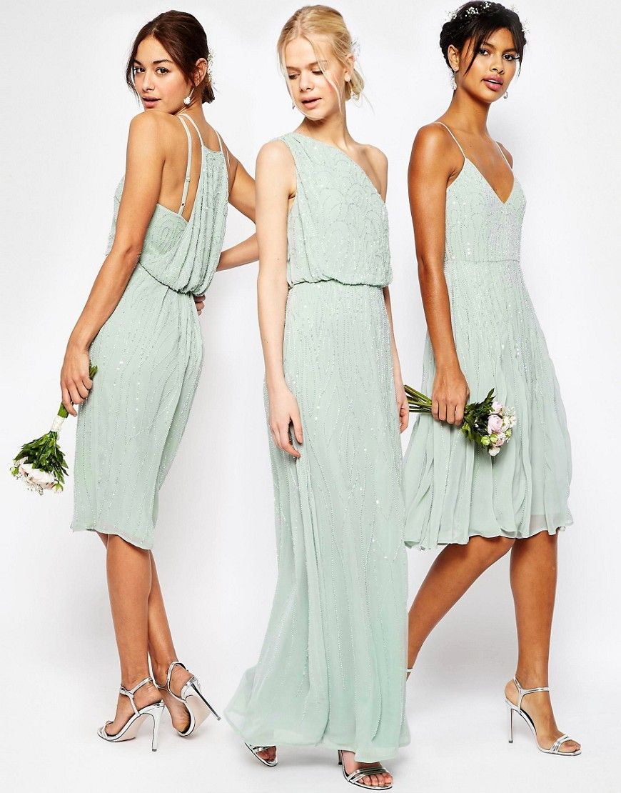 Mint green sequin and embellished bridesmaid dresses bridesmaid mint bridesmaid dresses ombrellifo Images