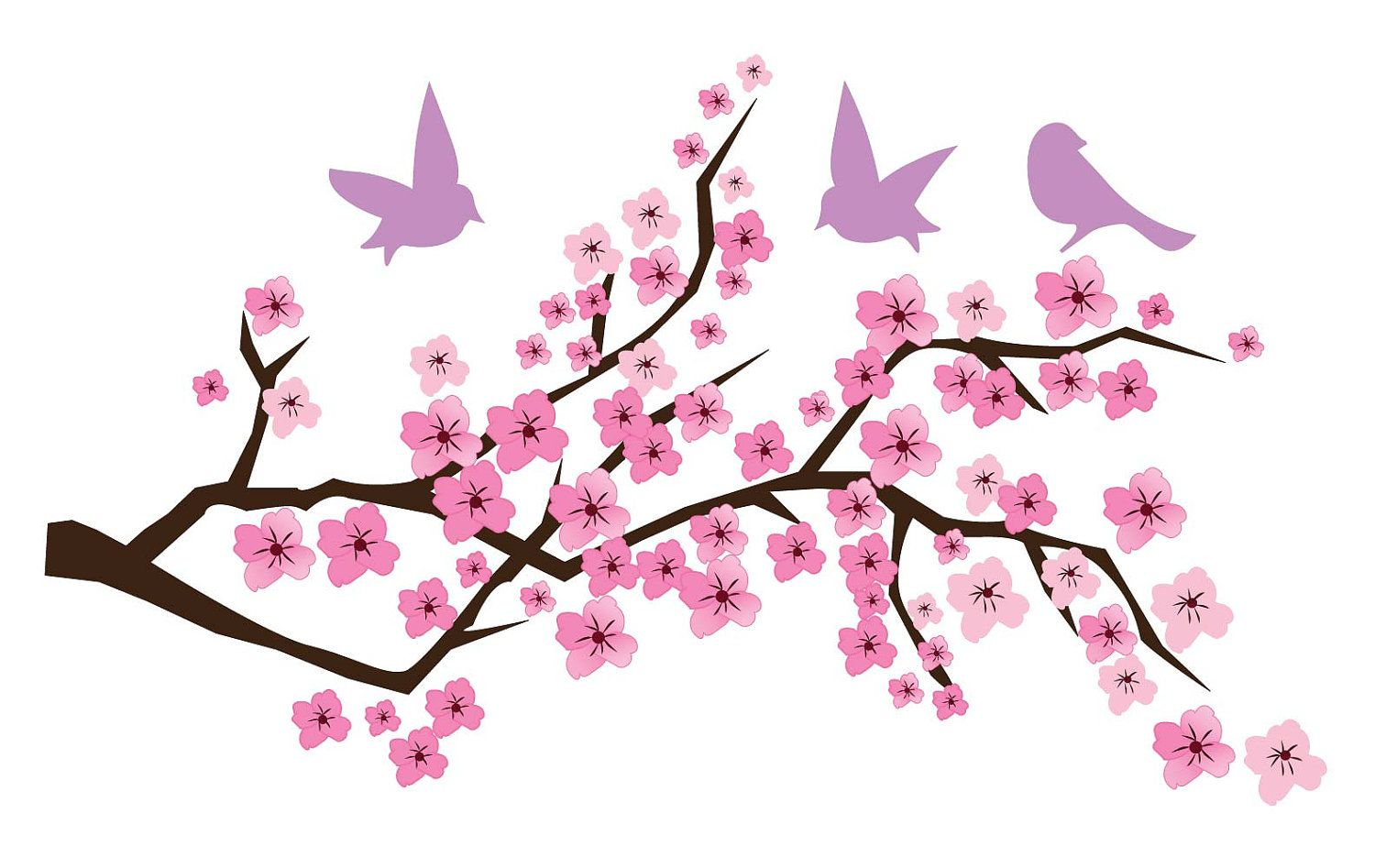 Pin By Shirley Sumner On Projects To Try Cherry Blossom Art Cherry Blossom Vector Tree Art