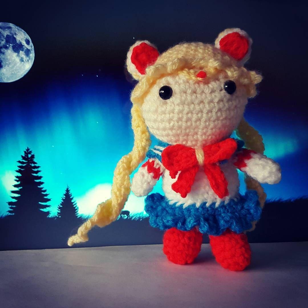 "Sailor Moon crochet i did. One of my favourite childhood cartoon. ""In the name of the Moon, i will punish you!"" #sailormooncrochet #sailormoon #crochet #childhood #inthenameofthemoon #iwillpunishyou #anime #usagi #rabbit #crochetdoll #princessserenity #moonprismpowermakeup"