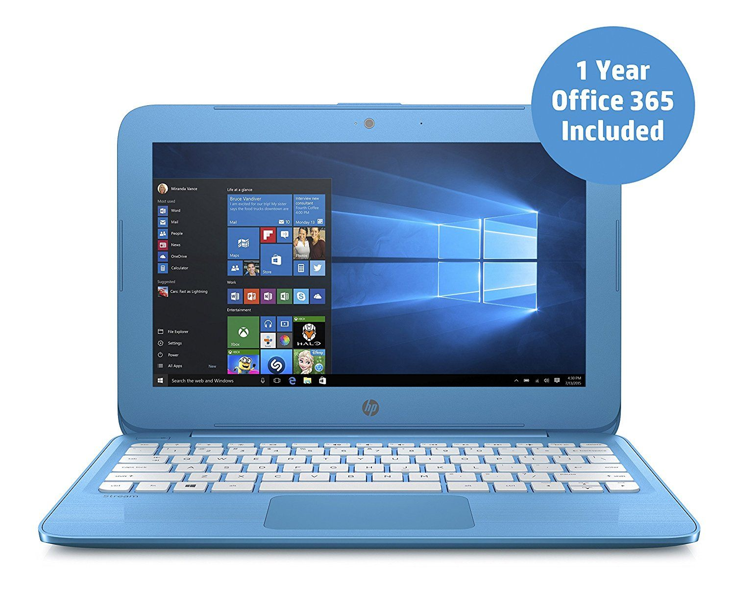 HP Stream 11y000na 11.6inch Laptop (Aqua Blue) (Intel