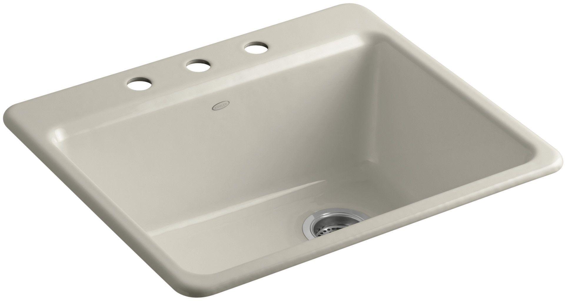 Riverby 25 L X 22 W X 9 5 8 Top Mount Single Bowl Kitchen Sink