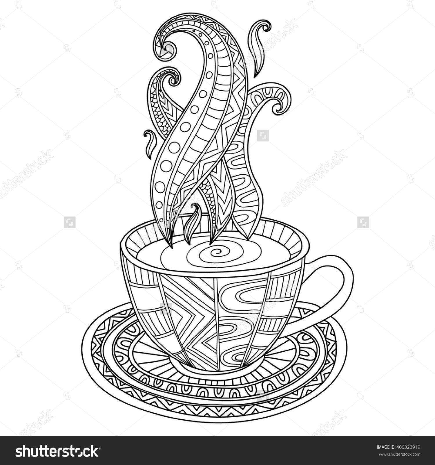 Cup of Coffee or Tea Zentangle
