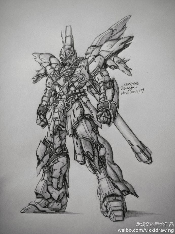Gundam And Mobile Suit Pencil Drawings By Vicki Via Pixiv Gundam
