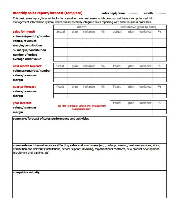 32 Monthly Sales Report Templates Word Pdf Google Docs Apple