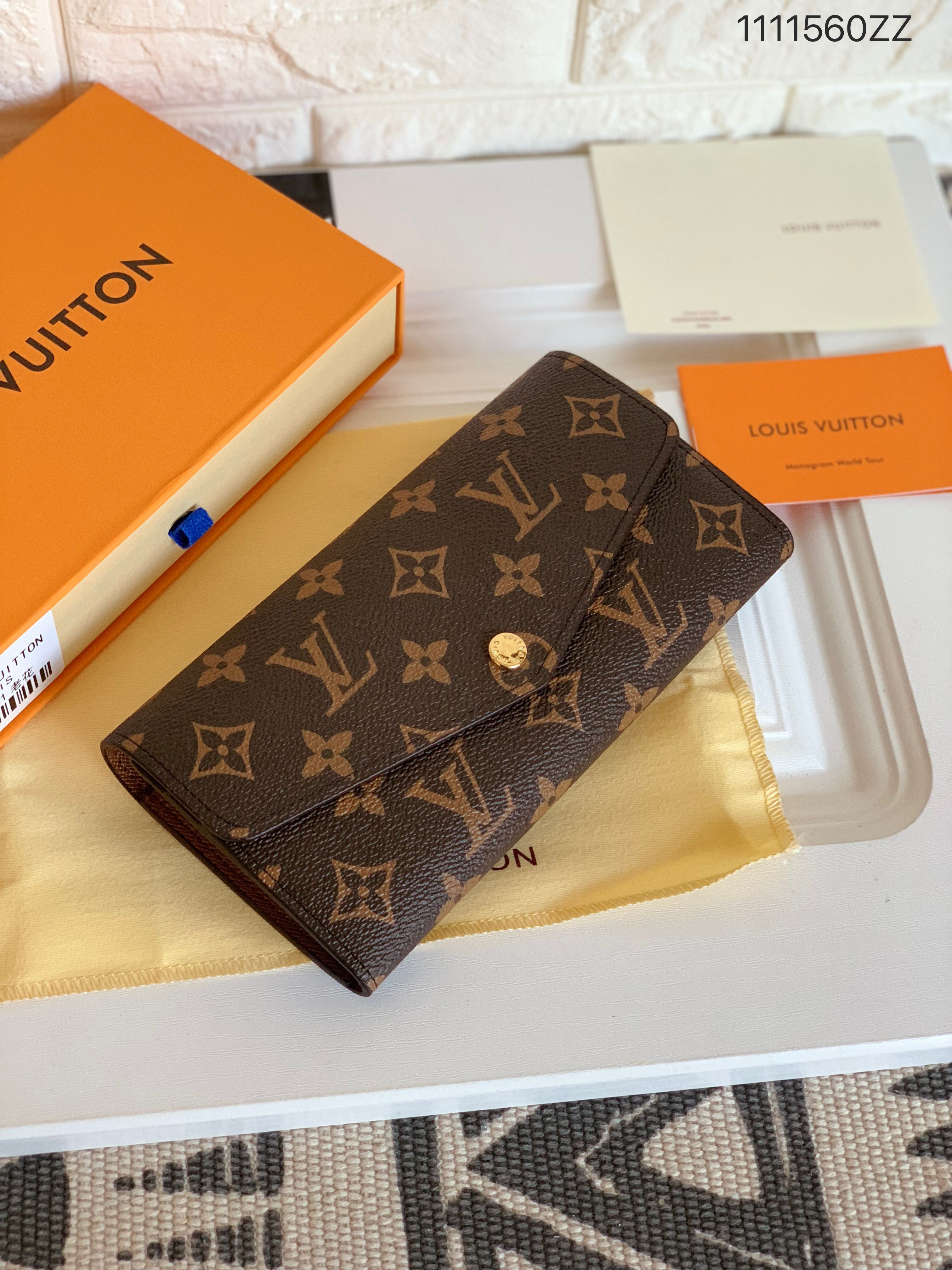 2d168967aeca Louis Vuitton lv woman Sarah wallet monogram 1 1