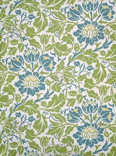 Flowering Scroll wallpaper, by John Henry Dearle. England, 1908