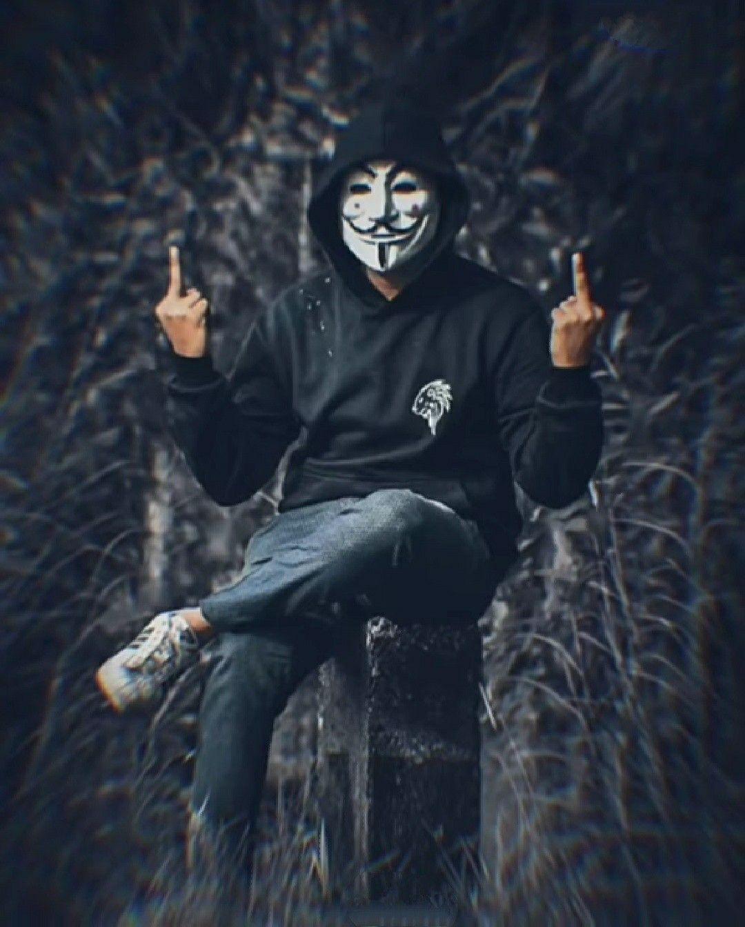 Makehackerth Komik Anak Pengeditan Foto Gambar Karakter Hacker joker mask wallpaper