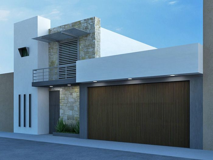 Fachada de casa moderna peque a fachada casas modernas for Fachadas exteriores minimalistas