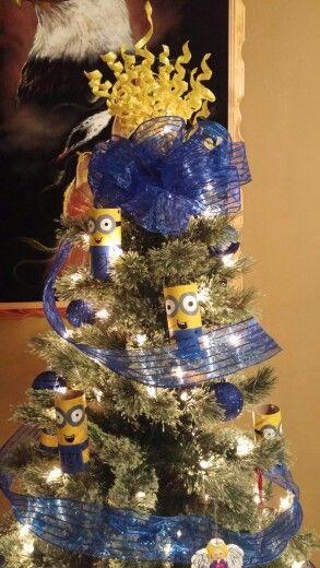 minions christmas tree dibujos pinterest