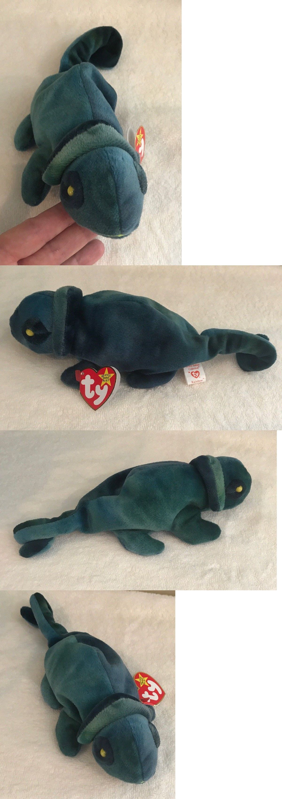 54033374fea Retired 440  1997 Ty Original Beanie Babies Rainbow The Blue Green Chameleon  W Tags 9.5 -  BUY IT NOW ONLY   11.99 on  eBay  retired  original  beanie  ...