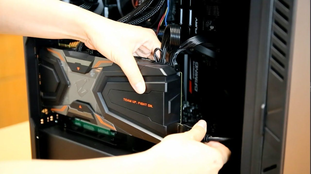 How To Install Aorus Gtx 1080 Ti Waterforce Graphics Card Vertically In Graphic Card Installation Vertical