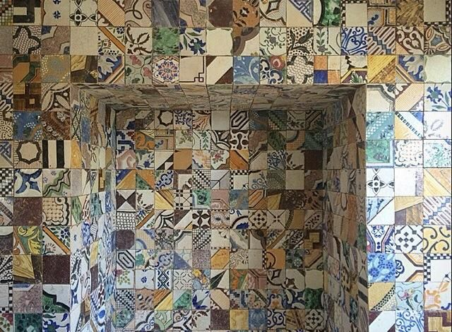 Patchwork of small tiles...