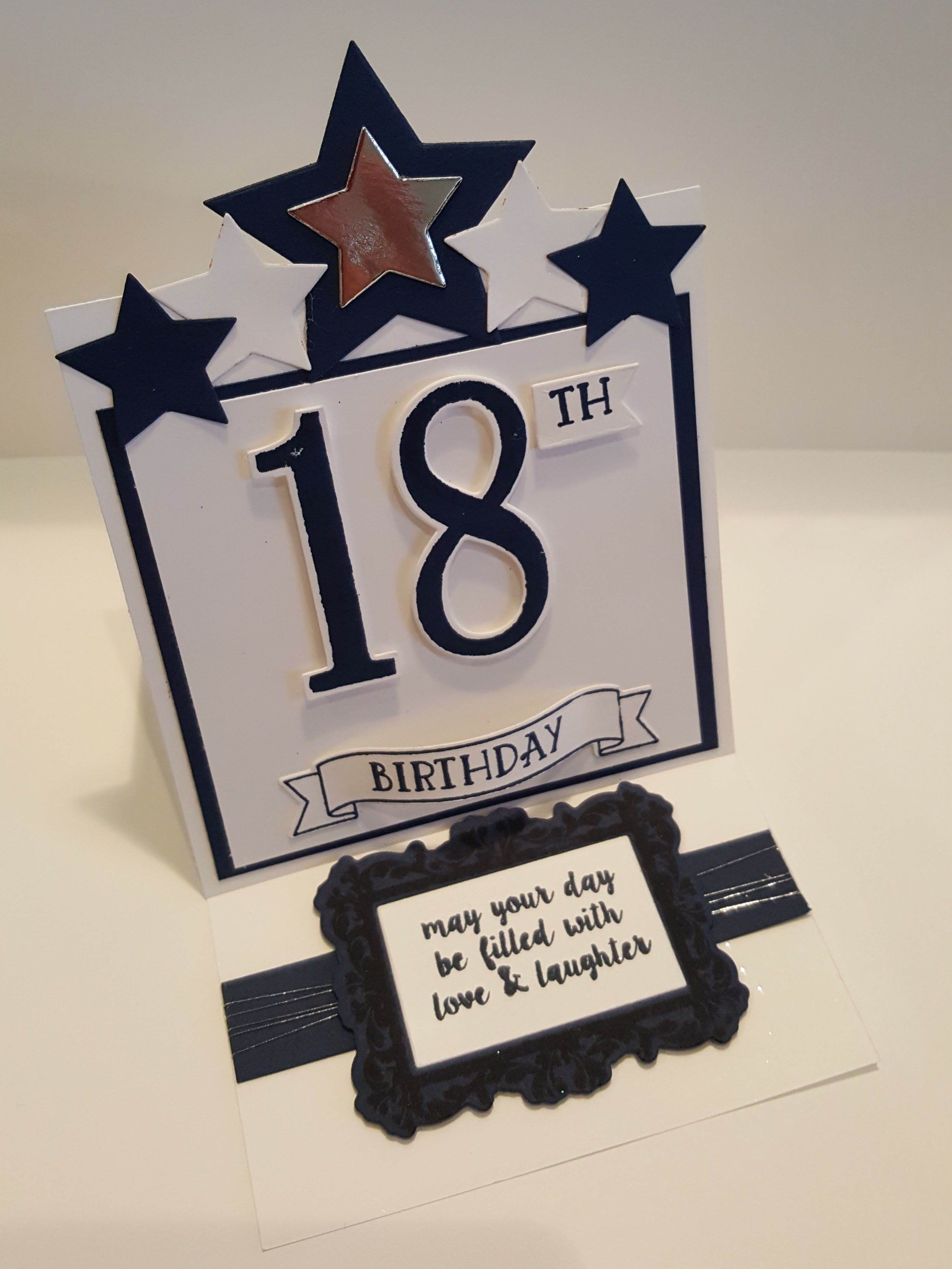 Male 18th birthday easel card.   21st birthday cards, 18th ...