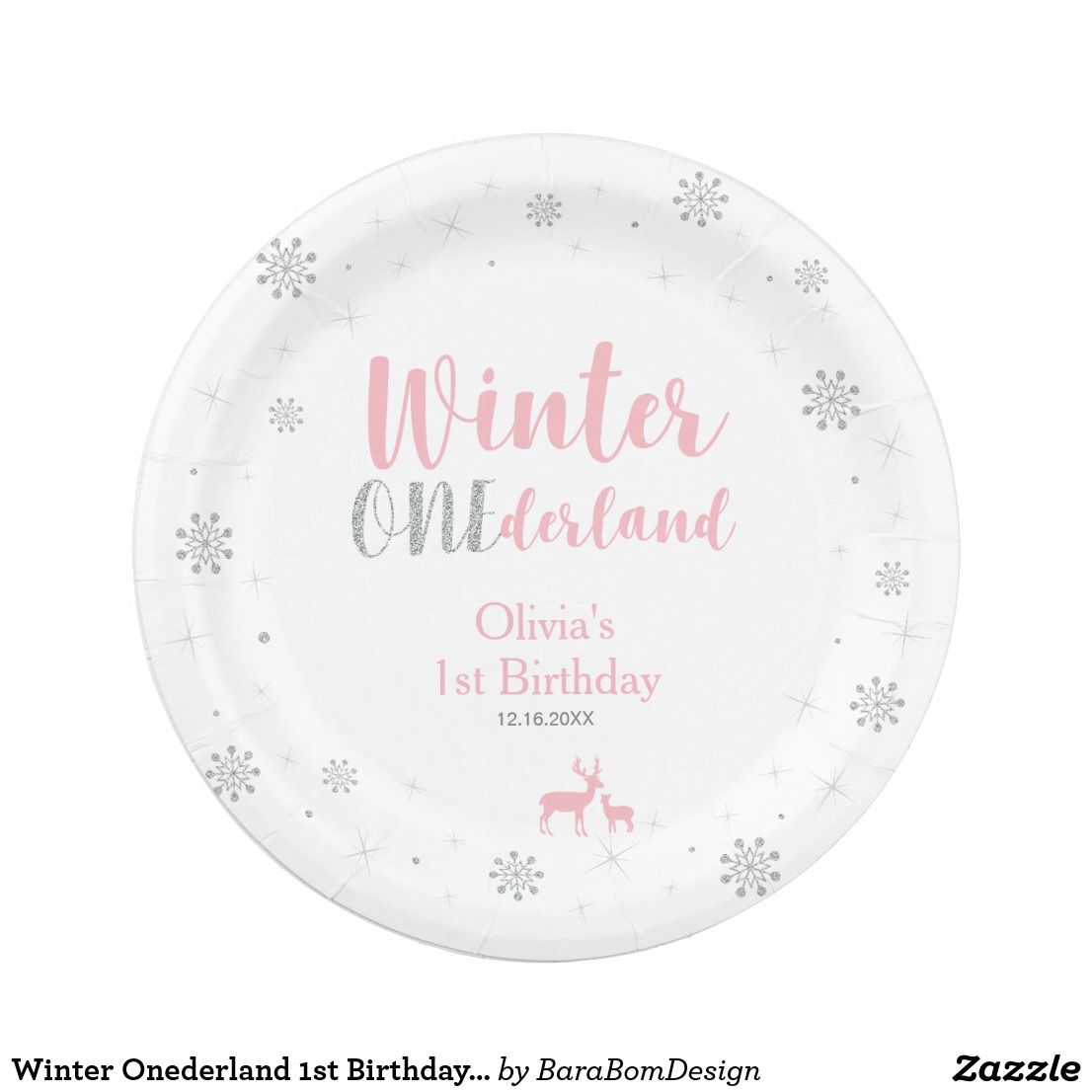 Winter Onederland 1st Birthday Party Paper Plates Add a personal touch to your special day with  sc 1 st  Pinterest & Winter Onederland 1st Birthday Party Paper Plates Add a personal ...