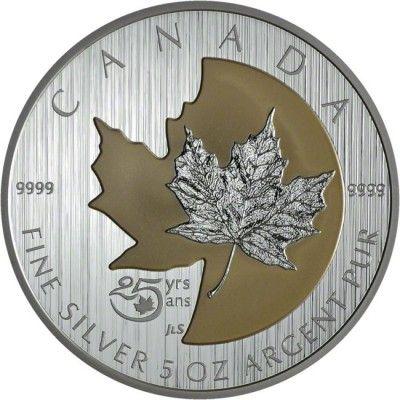 50 Dollar Silber 25 Jahre Maple Leaf PP