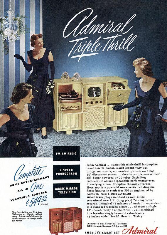 tv and radios old redhead