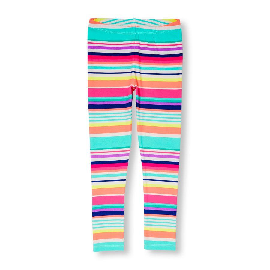 ac9ccae9ad8d7 Girls Neon Rainbow Stripe Leggings | Clothes for kidlets | Girls ...