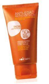 Protector Solar Facial Anti Edad Fps 50 Solcare Combate Las