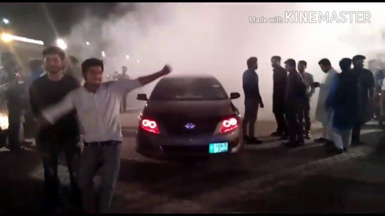 Night Auto Show Corolla Modified Smoke And Drift Drifting Cars