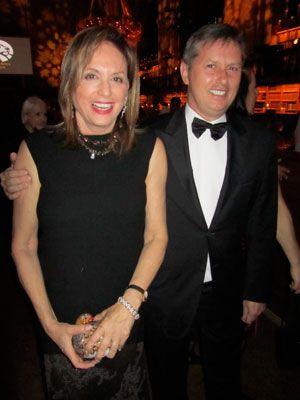 Christy Ferer, CEO of VIdicom and Citybuzz, and Richard Edwards at - ferer