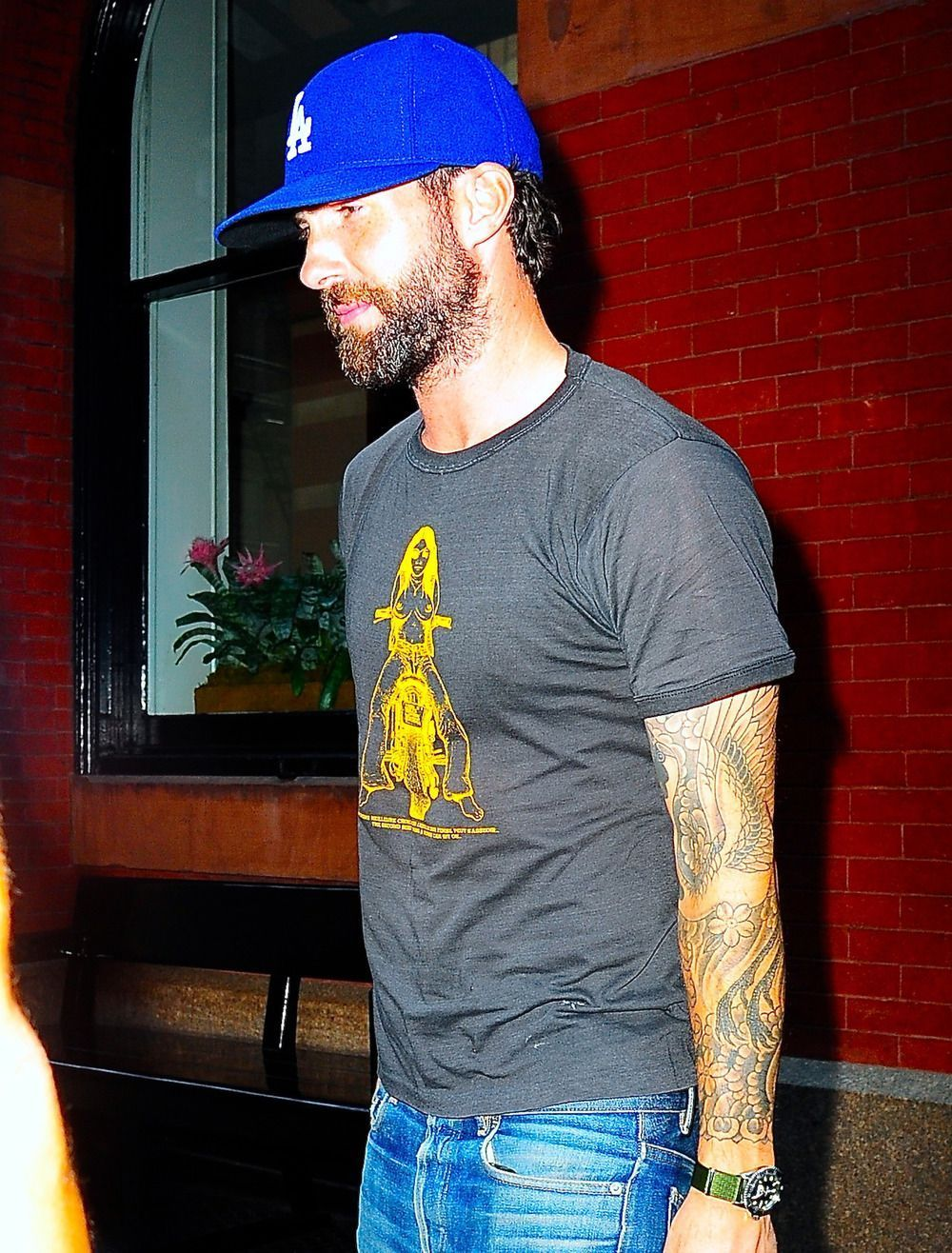Adam Levine Spotted in New York City With Intense Facial Hair Following Marriage... #Adam #city #facial #hair #intense #Levine #Marriage