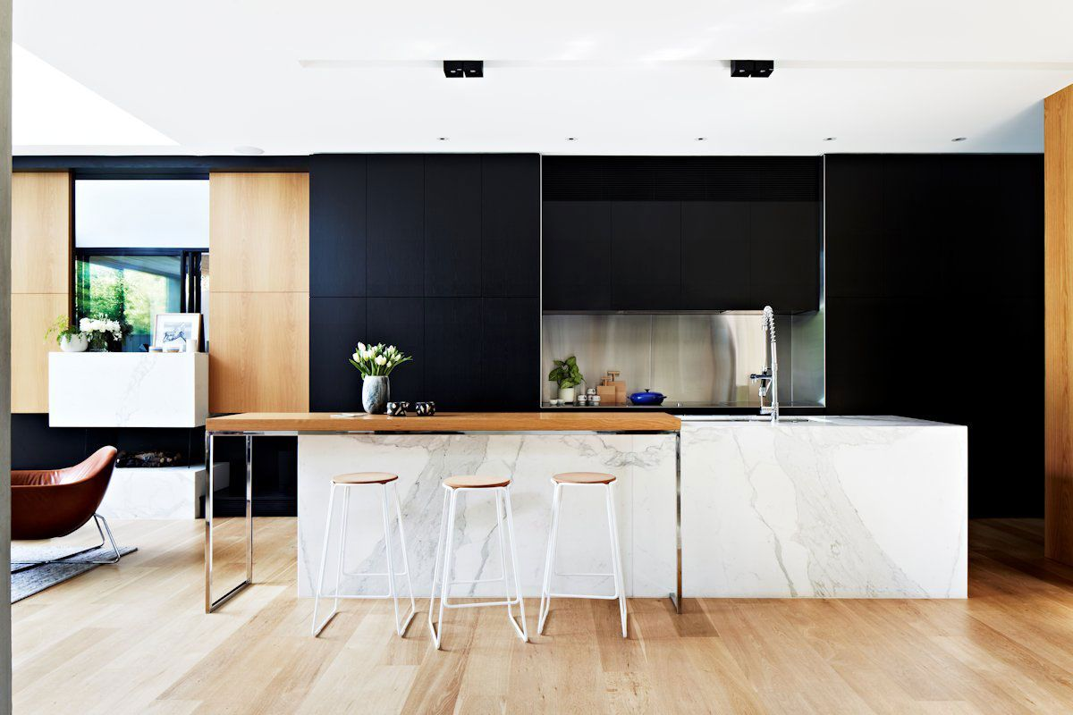 ways to achieve the perfect black and white kitchen - Black And White Kitchen Nz