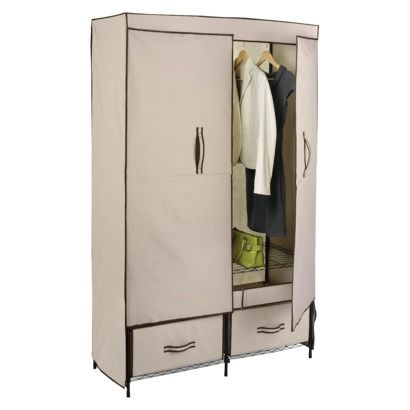 Target Clothes Hangers Adorable Target $6499 Honeycando Doubledoor Portable Wardrobe With Decorating Inspiration