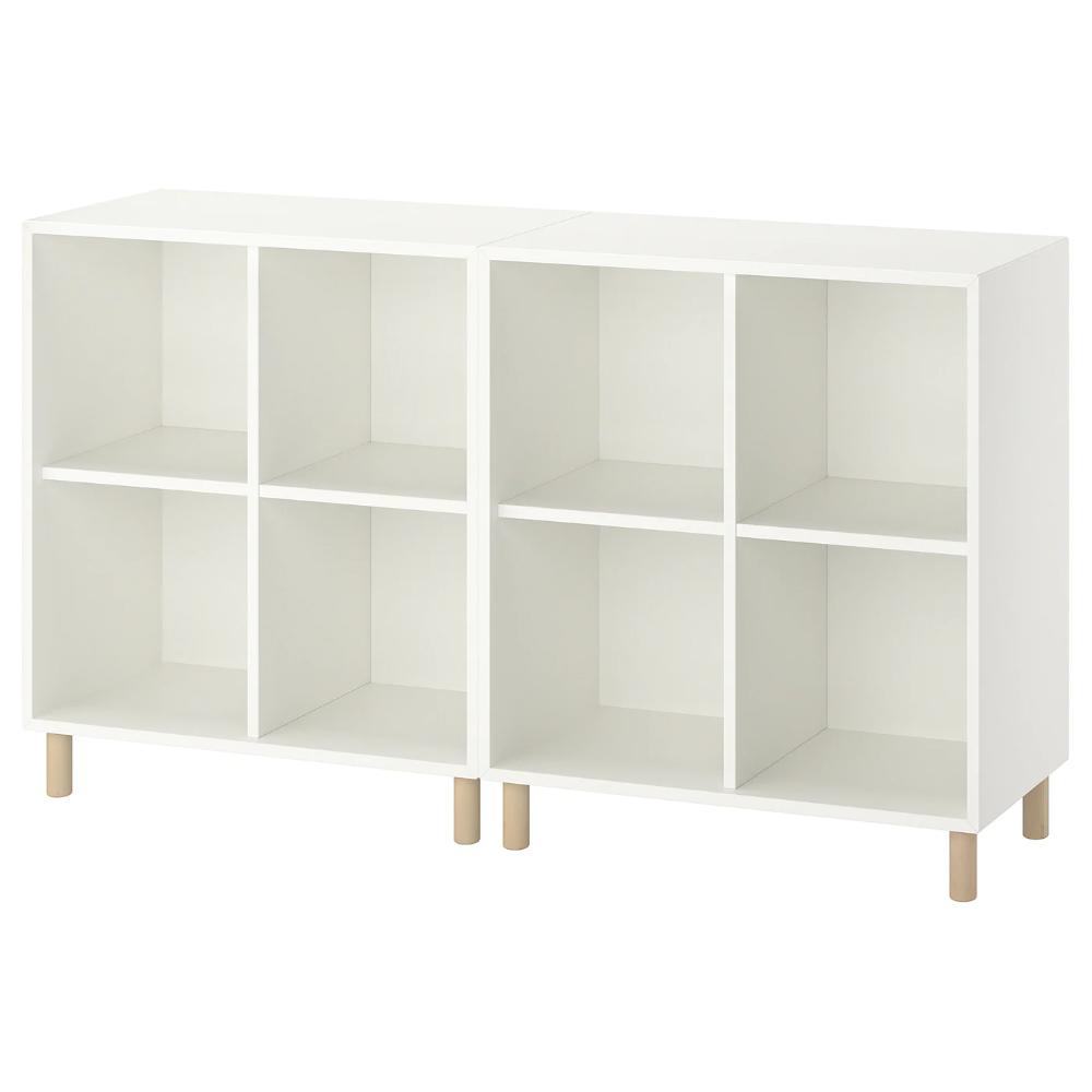 Eket Storage Combination With Legs White Wood Ikea In 2021 Eket Ikea Eket Ikea