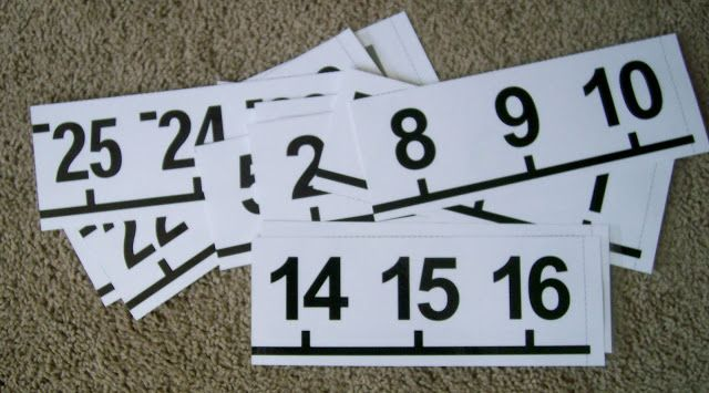 Print a number line in pieces and have the kids put in order at a ...