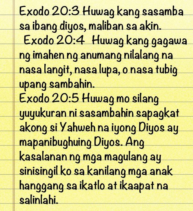 Exodos 20:2-4   BIBLE VERSES pentecostal   Bible verses